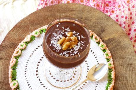 Mousse de chocolate crudivegana